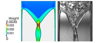 Computational film thickness illustration