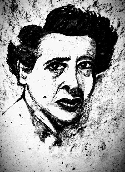 """""""There are no dangerous thoughts; thinking itself is dangerous."""" (Hannah Arendt)"""
