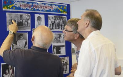 Recalling happy memories with fellow colleagues