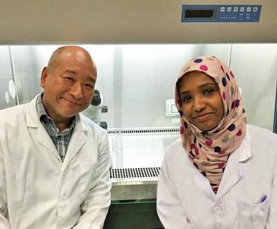 Alia Hafiz (PhD Candidate) with Professor Kenneth Lee