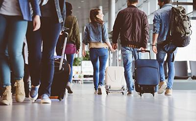 Travellers at airport