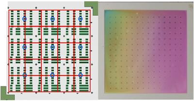 Arrays of waveguides (left) and a thin film (right)
