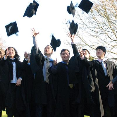 Graduates throwing hates