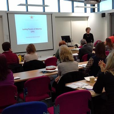 a talk by Deborah Clarke, CEO, Allied Services Trust