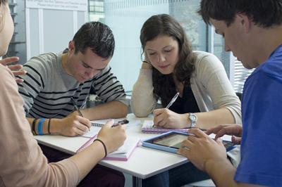 Group study during Berlin fieldwork
