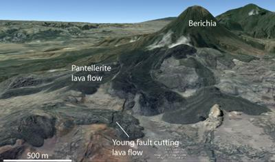 3D picture of Boset volcano from Google Earth