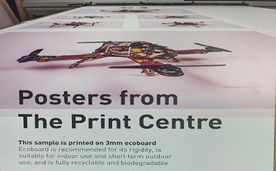 Poster printed on to 3mm eco board