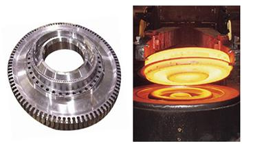 A typical aircraft engine disc and the forging process needed to manufacture it