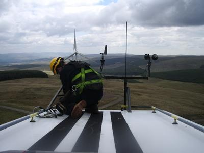 Installing an external met mast