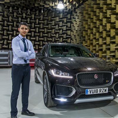 Denizcan working at Jaguar Land Rover