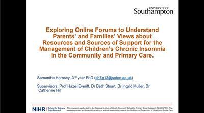 Samantha Hornsey presentation