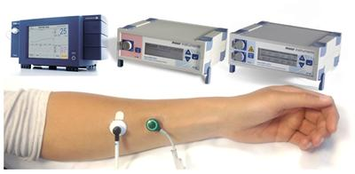 Optical sensors for blood flow and oxygenation