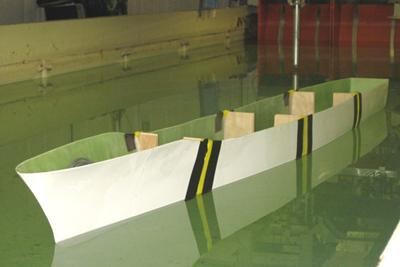 Hydroelastic model of a typical naval frigate