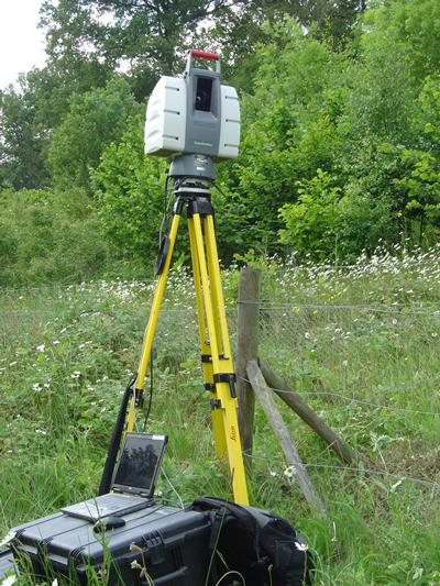 Laser scanning of ground displacements
