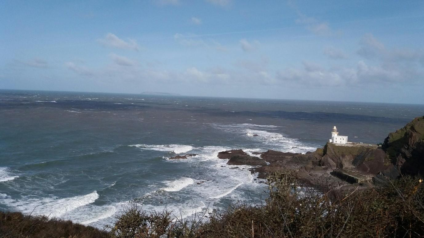 The wild seascape on 26 February 2020