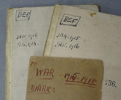 Wartime diaries of the Reverend Michael Adler (1868-1944), Jewish chaplain to the British Expeditionary Force in France during World War I in Special Collections, Hartley Library.