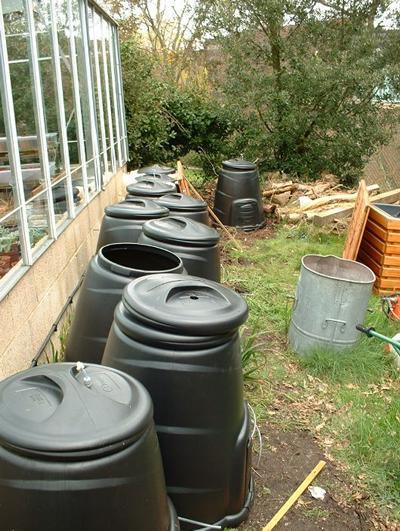 Natural aeration composting