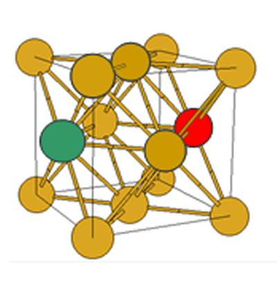 A two atom co-cluster at next nearest neighbour position