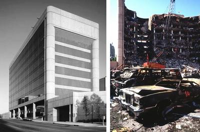 Before and after the bombing