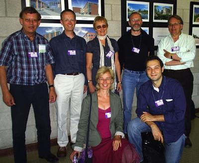 From left: Guus Extra, Patrick Stevenson, Clare Mar-Molinero, Piet van Avermaet, Euan Reid.  In front: Gabrielle Hogan-Brun, Max Spotti