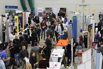 Students searching for positions at one of our autumn careers fairs
