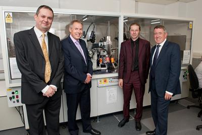 L-R: Professor Phil Gale, Professor Don Nutbeam, Dr Simon Coles, John Denham MP