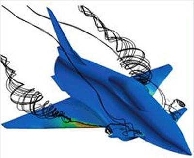Vortical flows around X-31 aircraft