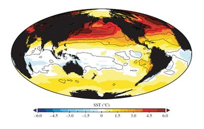 Sea-surface temperature anomaly
