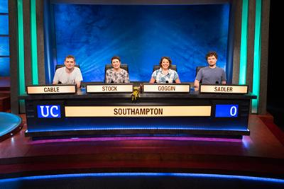 Southampton team for BBC's University Challenge