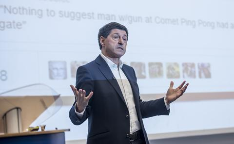 Jon Sopel giving his lecture