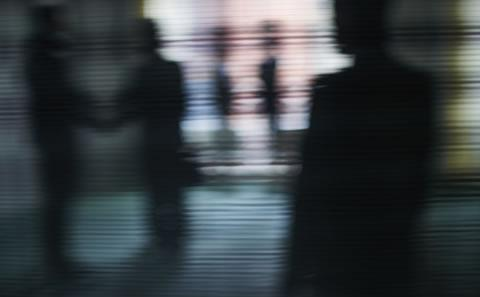Picture of blurred people