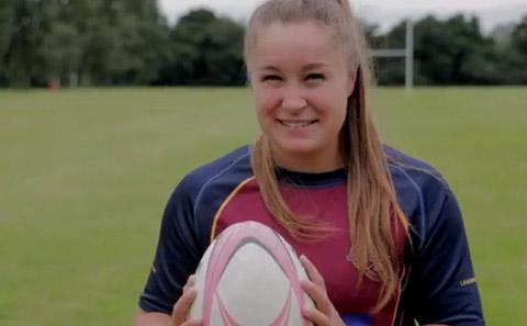 Picture of student with rugby ball