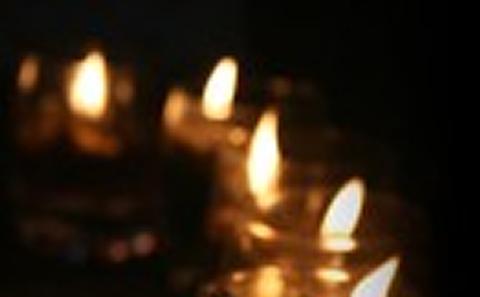 candles flickering