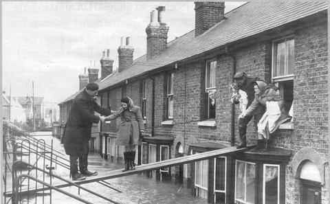 Family evacuating house Whitstable