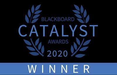 Blackboard Catalyst Award 2020 winners logo