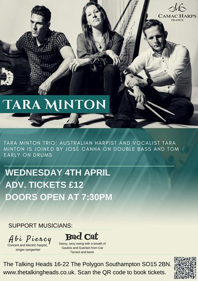 Abi Piercy supports the Tara Minton Trio on 4 April 2018