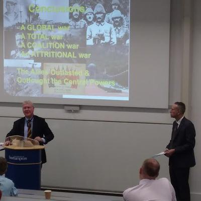 Profs Gary Sheffield and Mark Cornwall