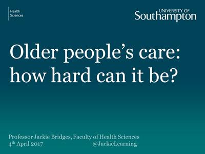 Prof Jackie Bridges inaugural lecture Tuesday 4 April 2017