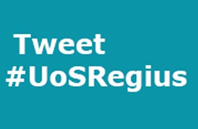 Tweet #UoSRegius with questions for our panel