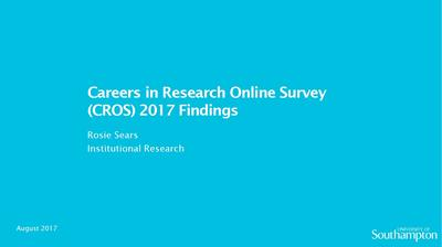 front page of CROS 2017 presentation