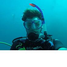 Photo of Kieran Murray, MSci Marine Biology