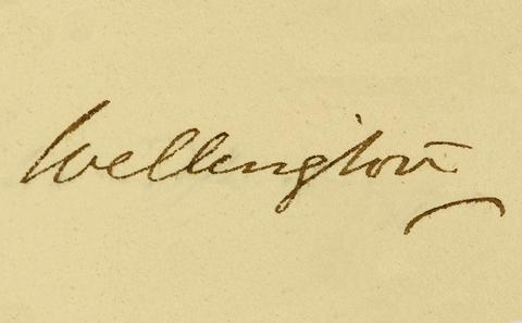 Wellington signature
