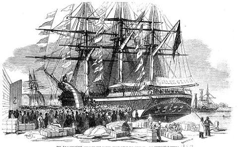 Emigrants ship