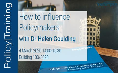 How to influence policymakers
