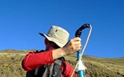 Analysing tephra in Patagonia