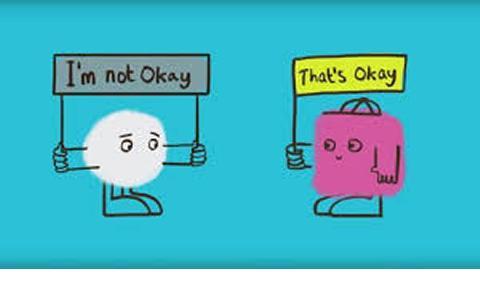 A cartoon - it's ok not to be ok