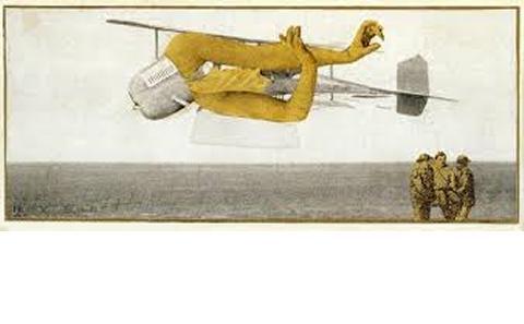 Murdering Aeroplane by Max Ernst