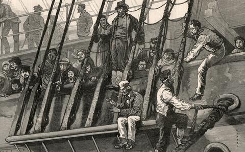 German Emigrants at Southampton