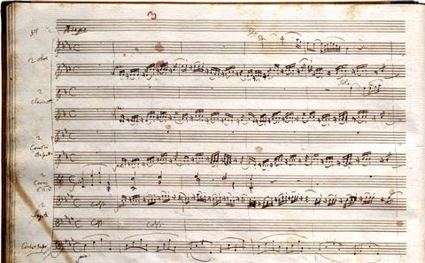 Mozart Serenade K. 361 (autograph)