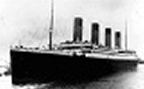 Titanic leaves Southampton, 1912